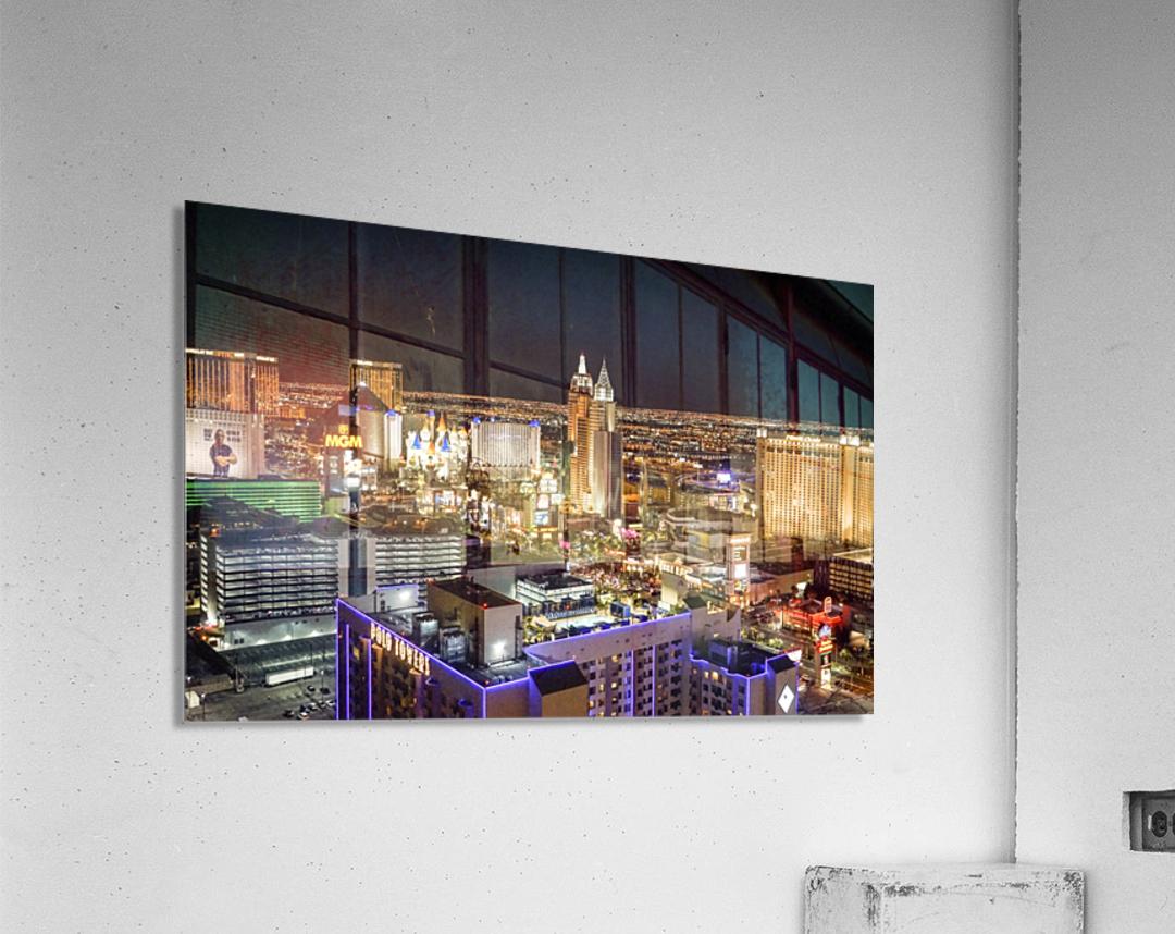 Las Vegas at Night  Acrylic Print