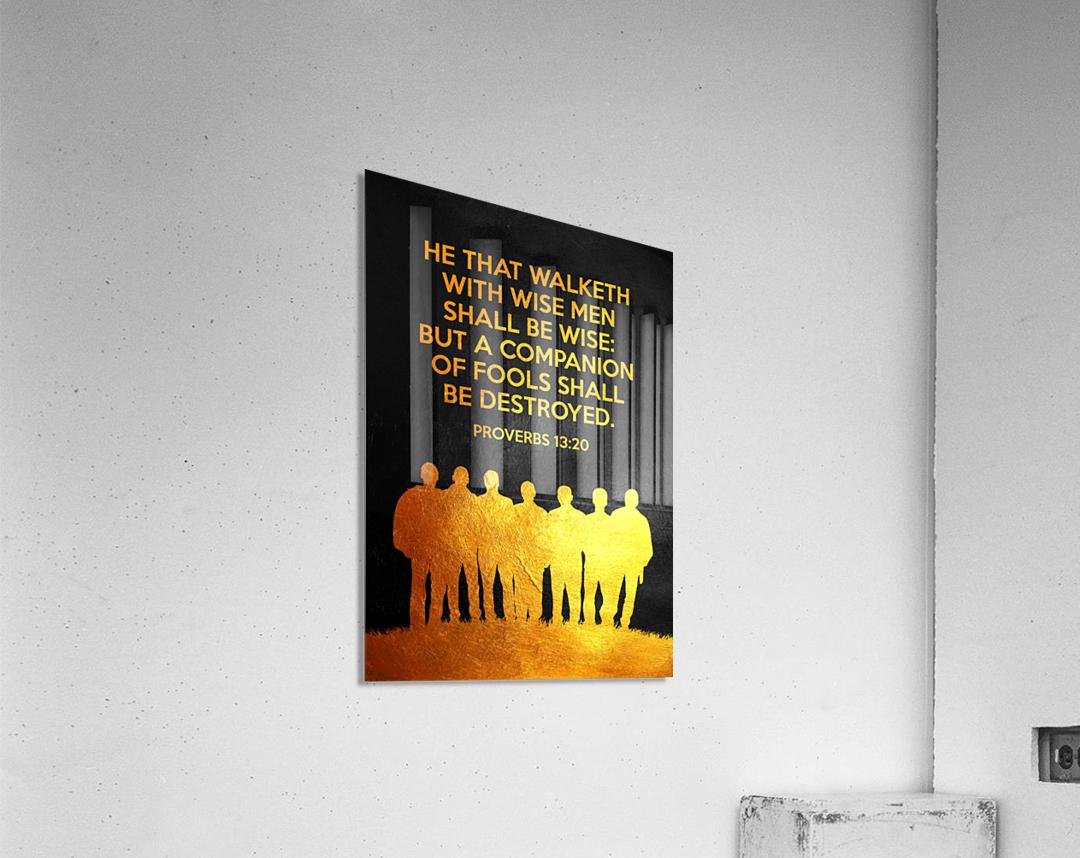 Proverbs 13:20 Bible Verse Wall Art  Acrylic Print