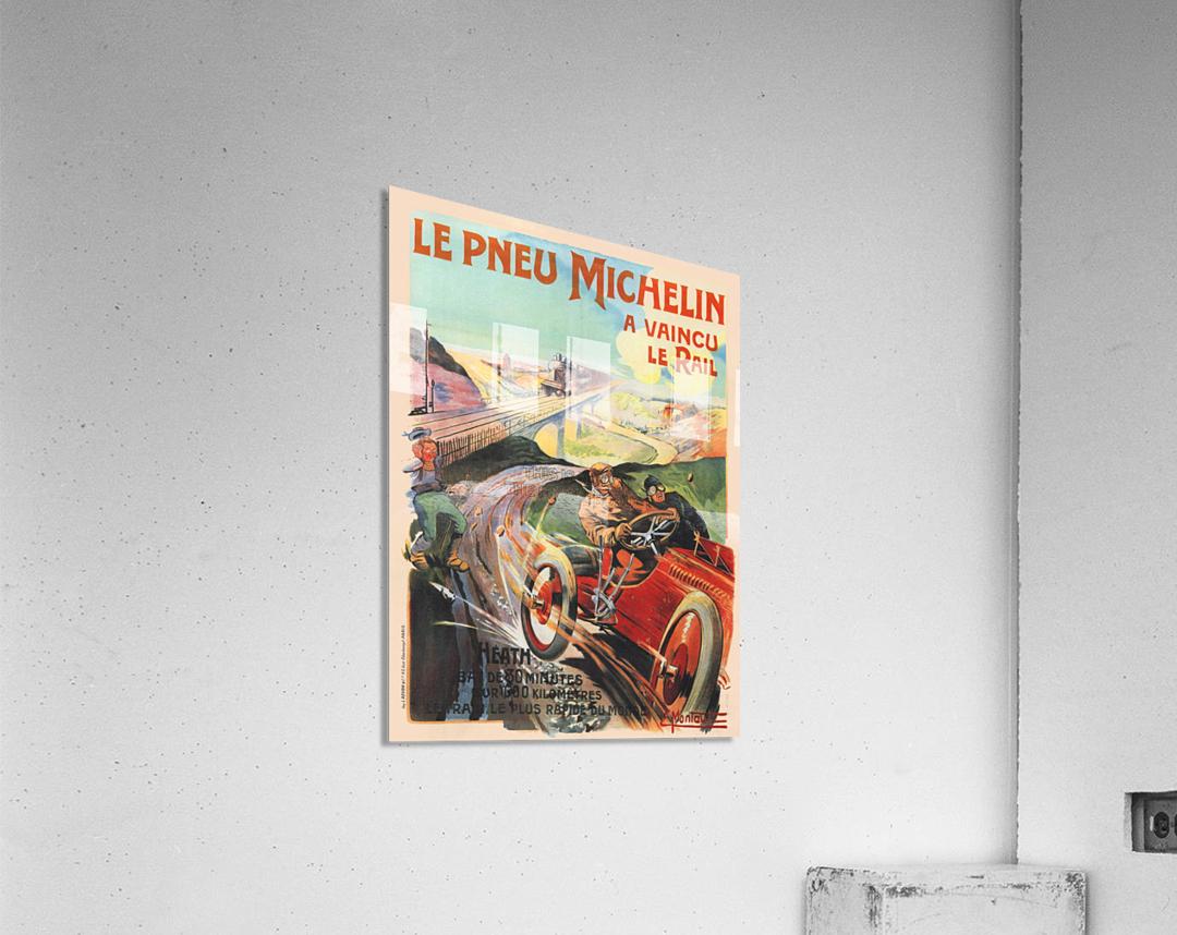 Le Pneu Michelin a vaincu le rail  Impression acrylique