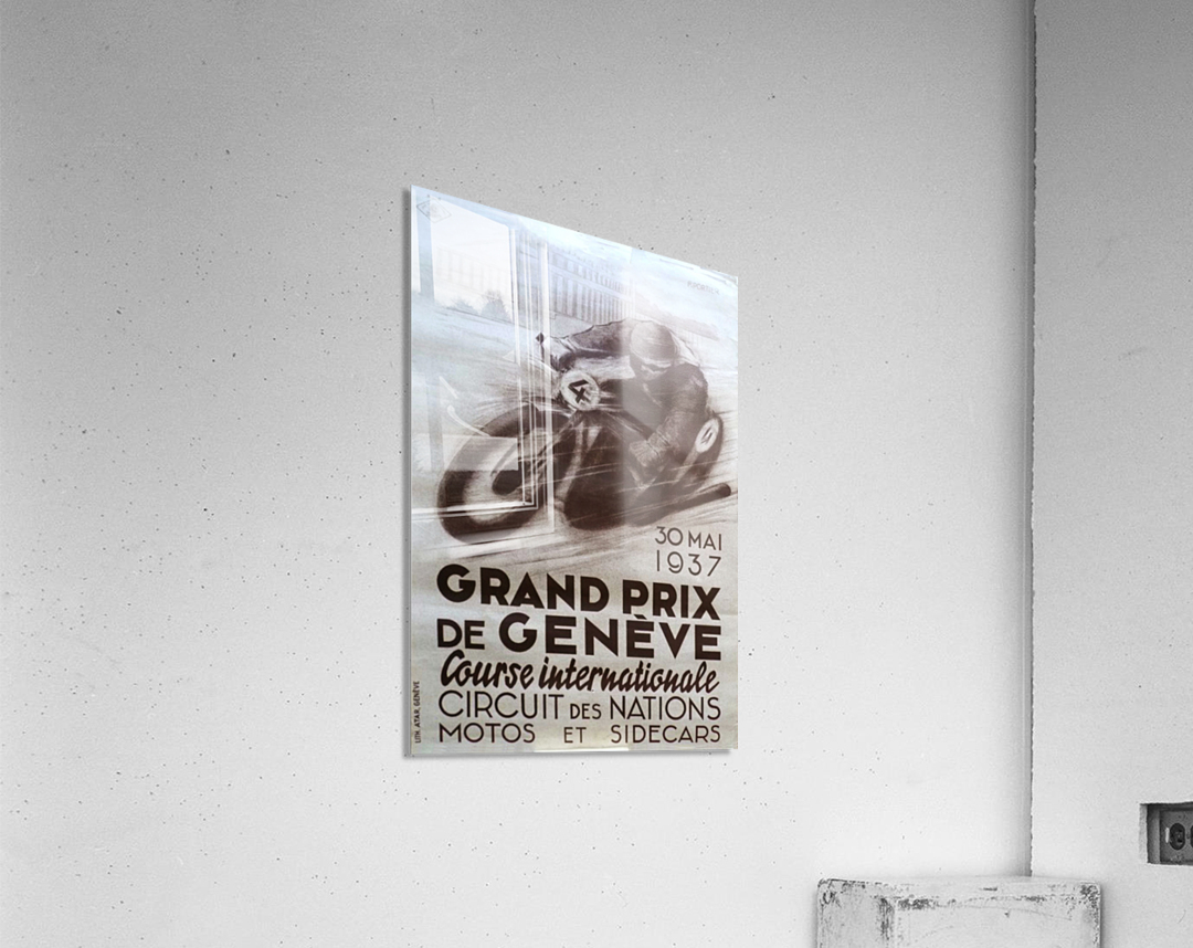 Grand prix de Geneve  Impression acrylique