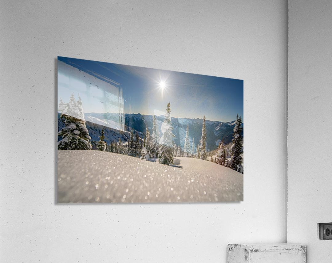 Mid winter blues  Acrylic Print