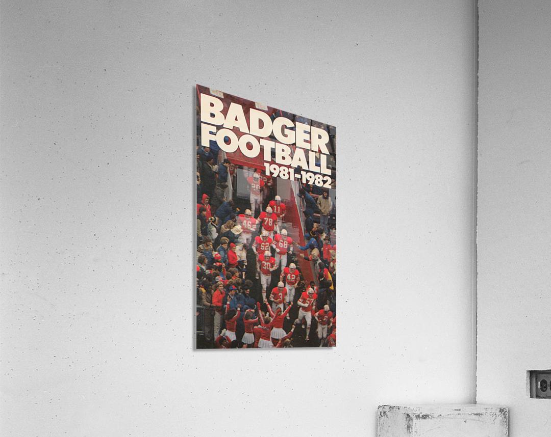 1981 Wisconsin Badgers Football Poster  Acrylic Print