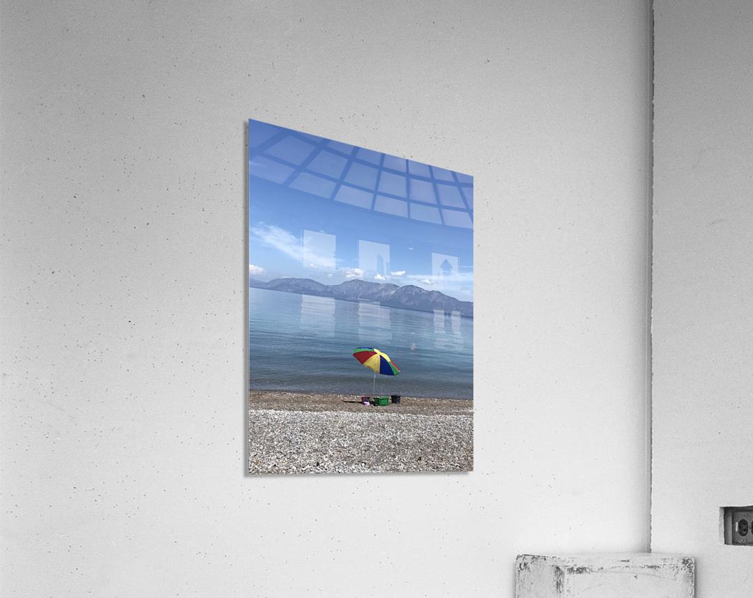 Greece the view of Evia  Acrylic Print