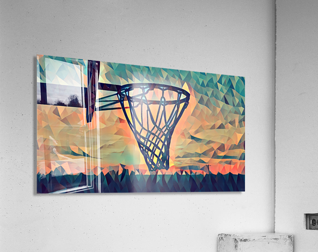 basketball hoop sunset  Acrylic Print