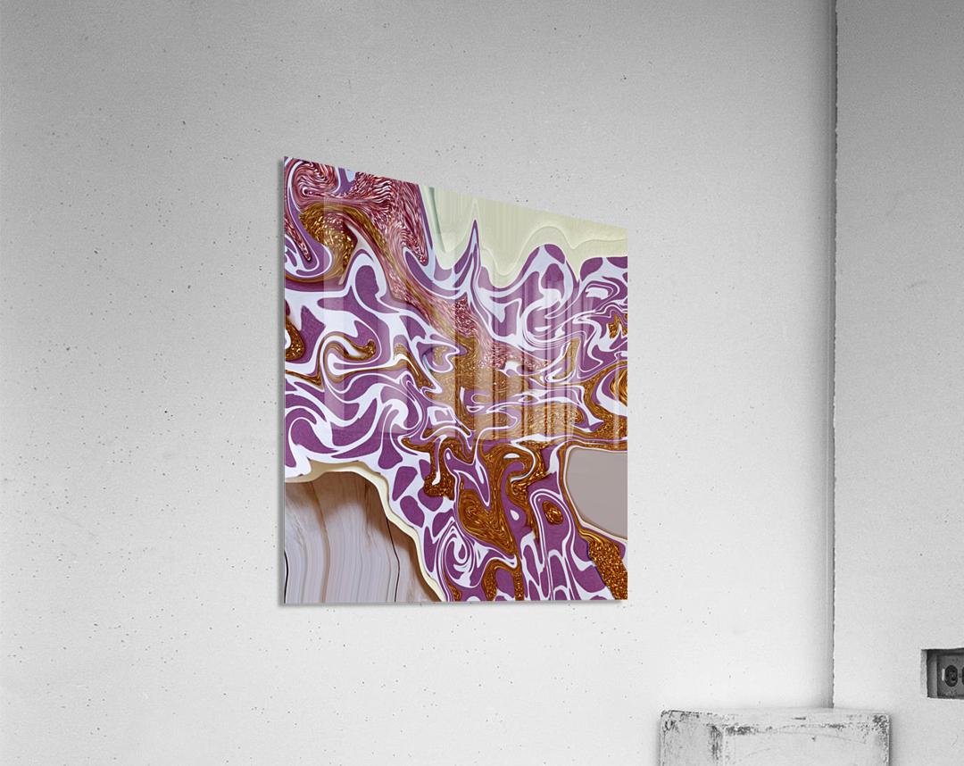 3D Pour  Acrylic Print