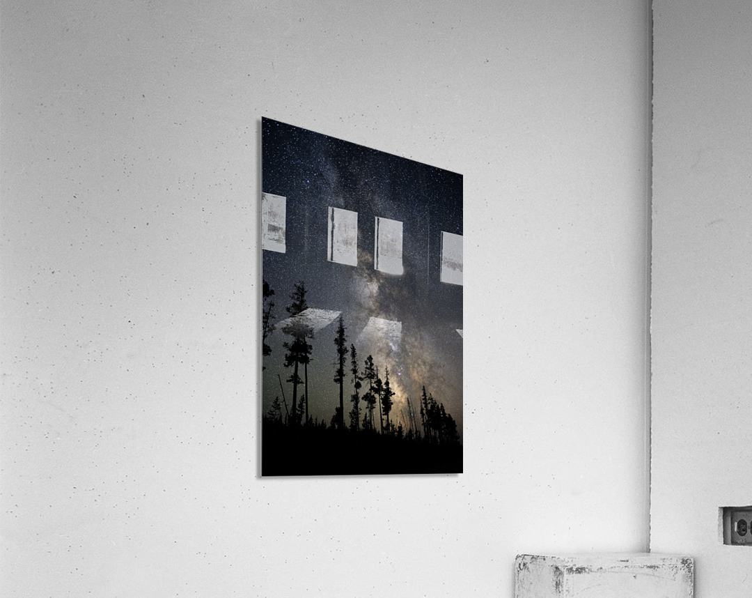 Yellowstone Milky Way  Acrylic Print