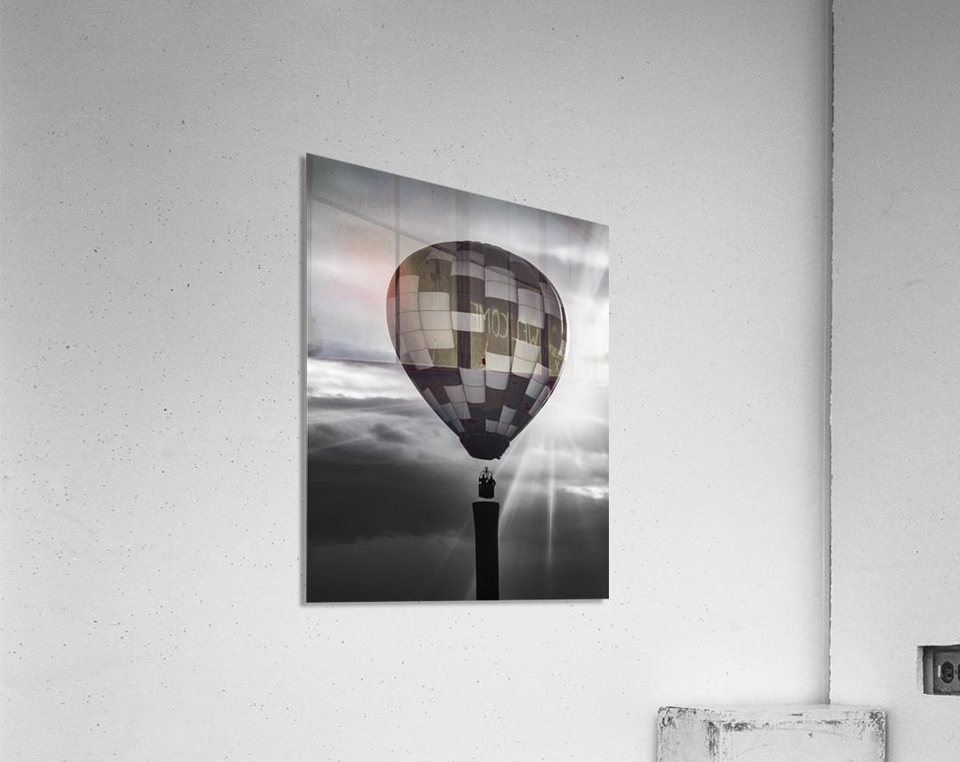 Hot Air Balloon On A Smokestack  Acrylic Print