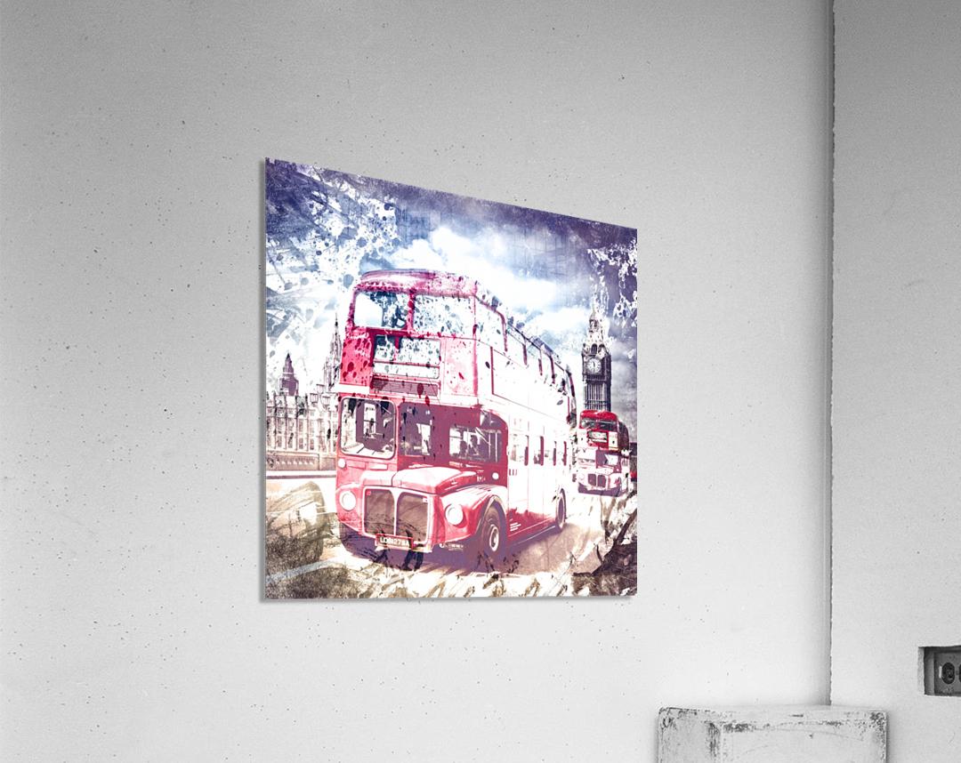 City-Art LONDON Red Buses on Westminster Bridge  Acrylic Print
