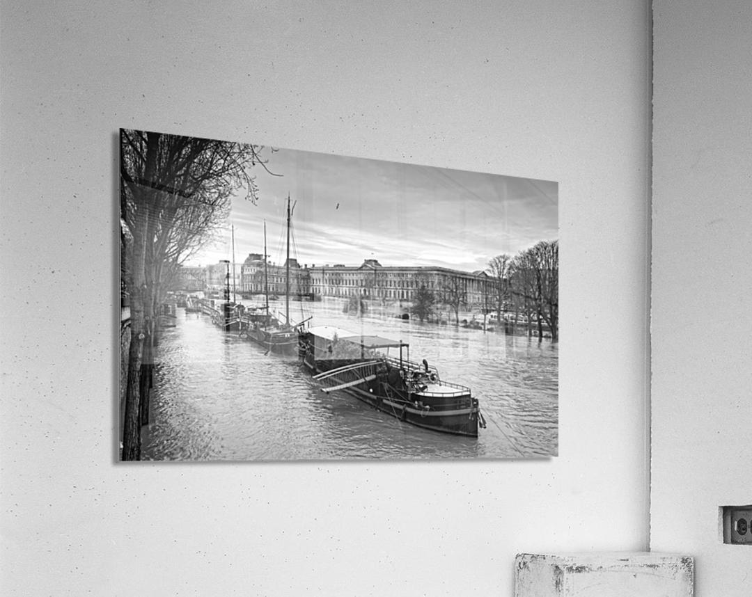 Ile de la Cite flood  Impression acrylique