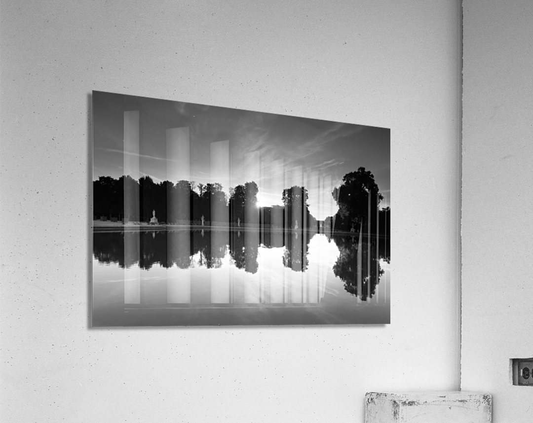 Tuileries reflection  Impression acrylique
