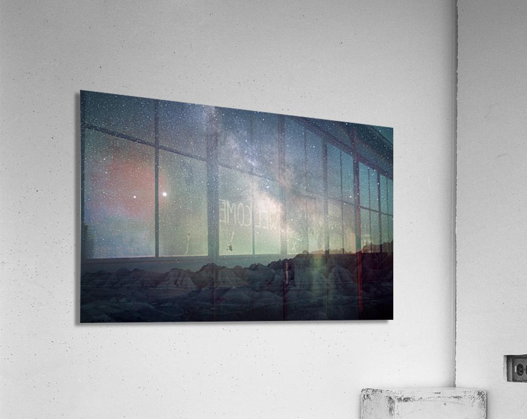 Milky Way Above The Badlands  Acrylic Print