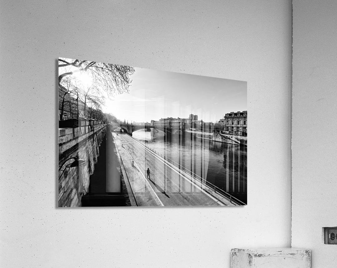 Alone in Paris  Impression acrylique