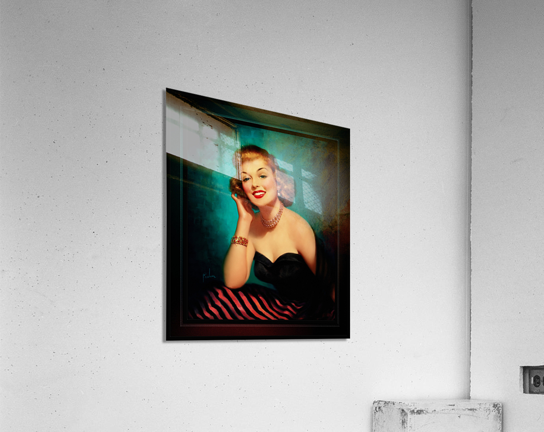 Evening Glamour Girl by Art Frahm Glamour Pin-up Vintage Art  Acrylic Print