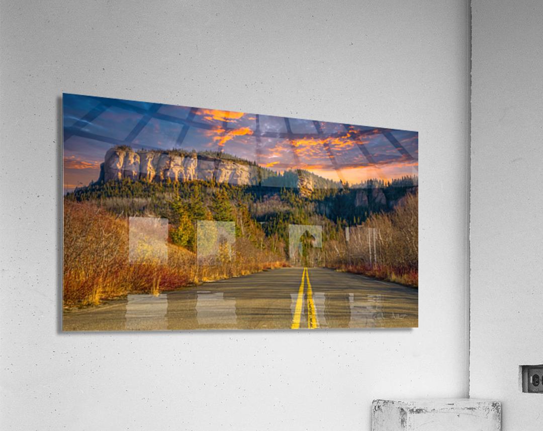 Route des Failles - La crevasse  Acrylic Print