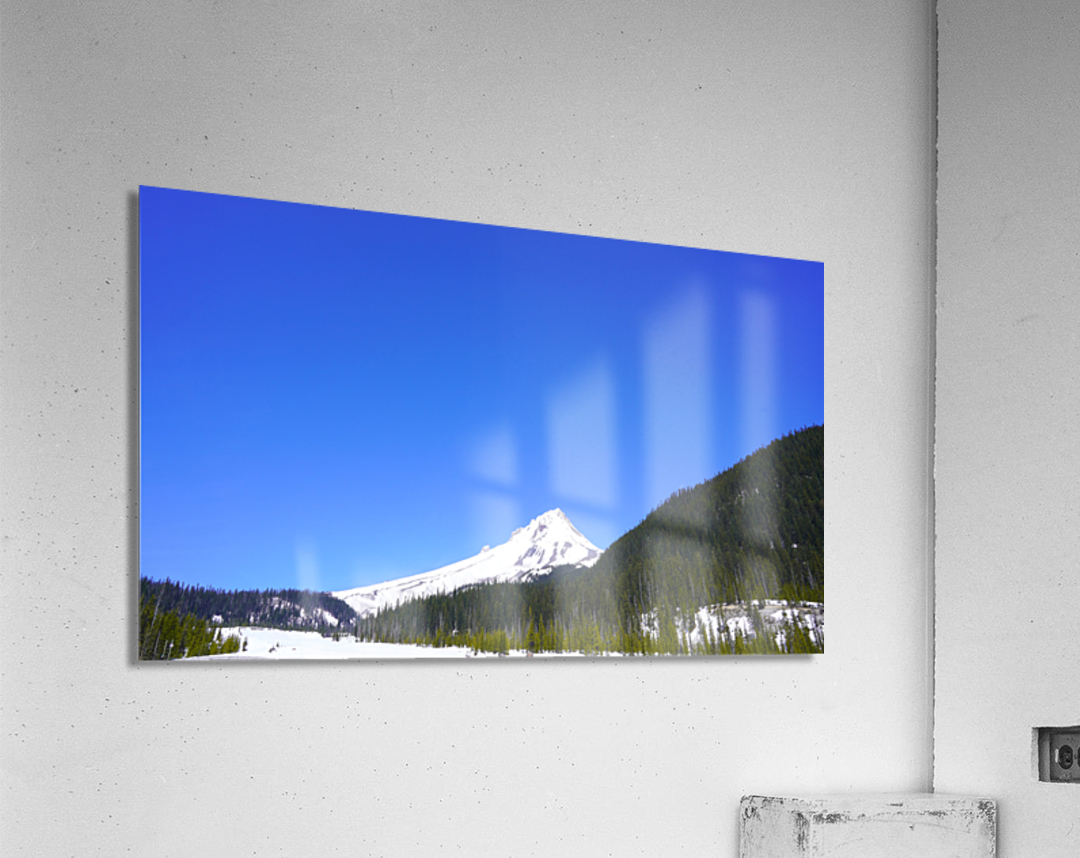 Clear Day in the Mountains - Mount Hood  - Oregon  Acrylic Print