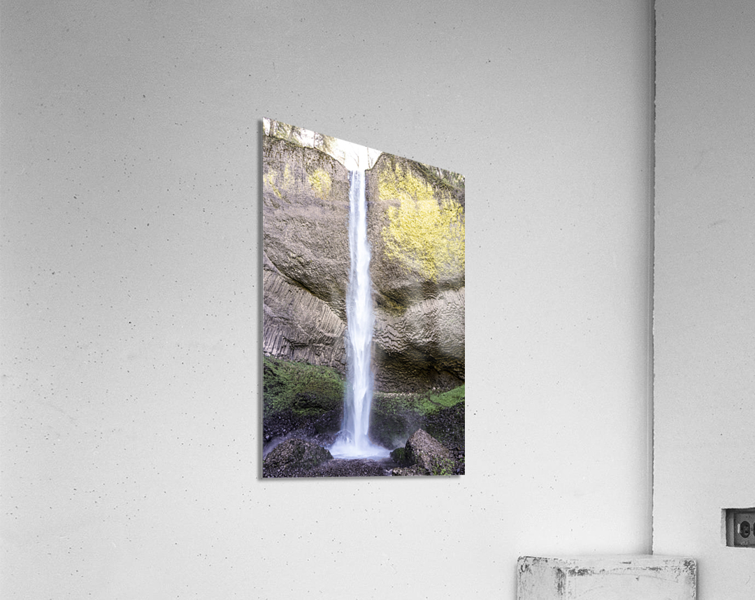 Spring at the Falls in The Gorge - Columbia River Oregon  Acrylic Print