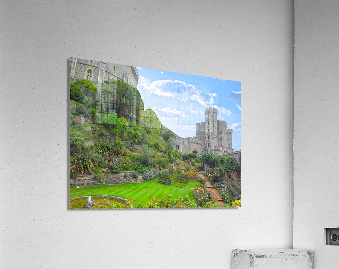 Windsor Castle Under Beautiful Blue Skies - Berkshire United Kingdom  Acrylic Print