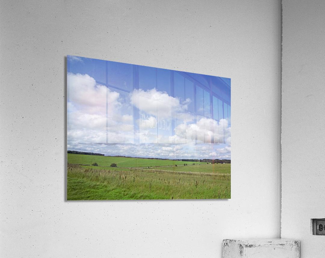 Salisbury Plain on the Road to Stonehenge  Acrylic Print