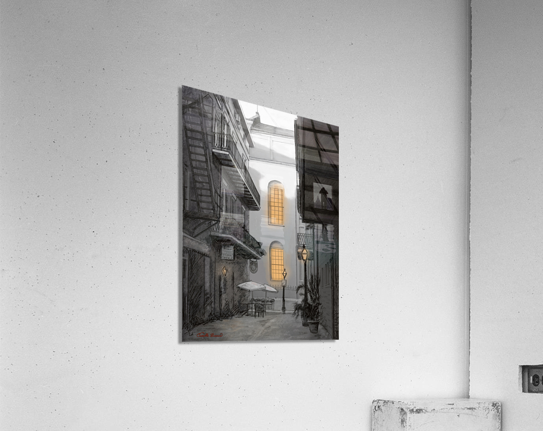 Light in the alley a French quarter scene  Acrylic Print