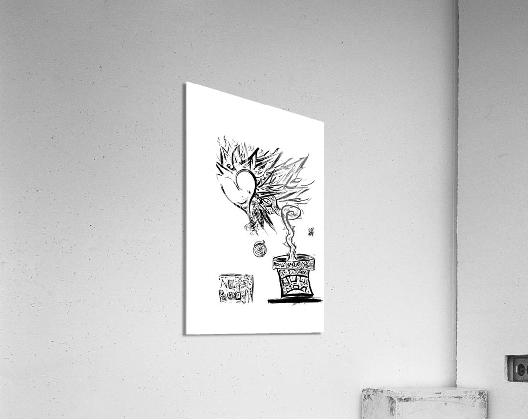 2021 heart flower   Acrylic Print