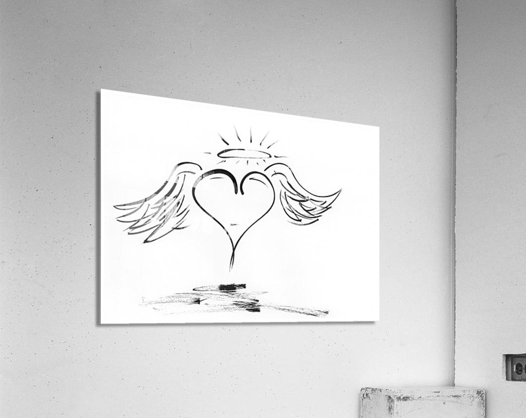 2020 heart angel  Acrylic Print