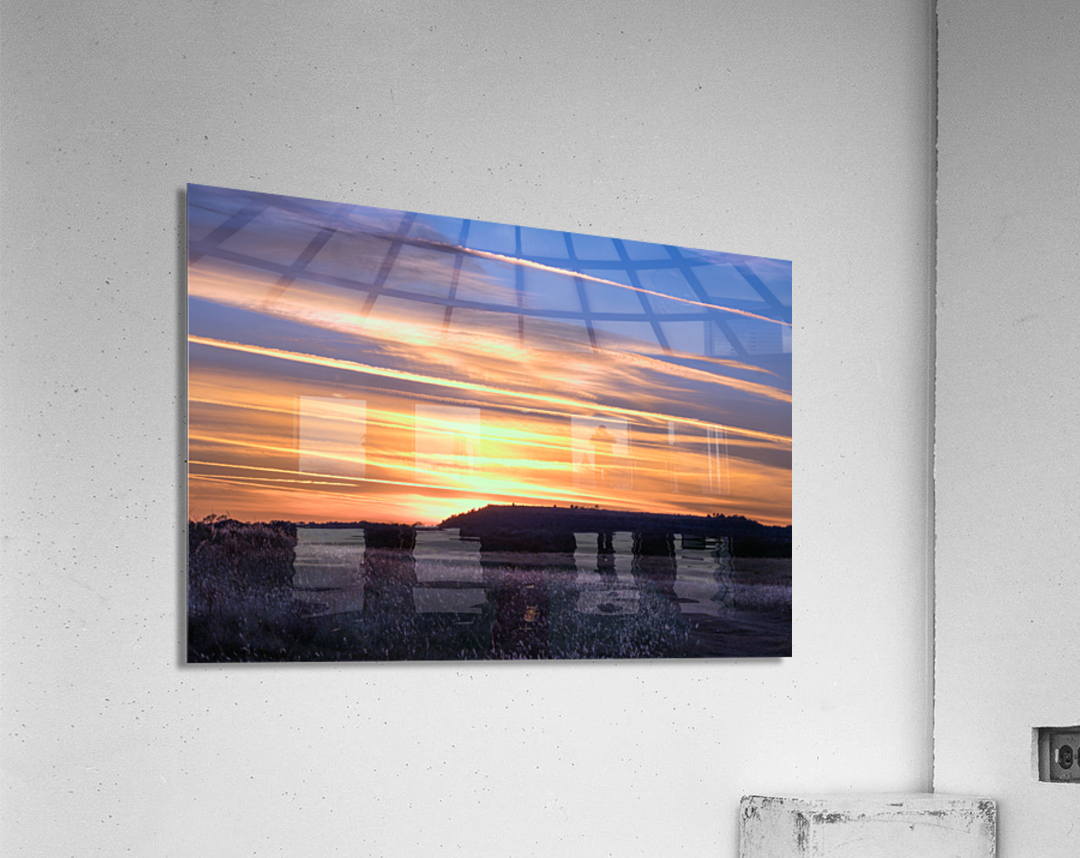 Table Top Mountain Sunset  Acrylic Print