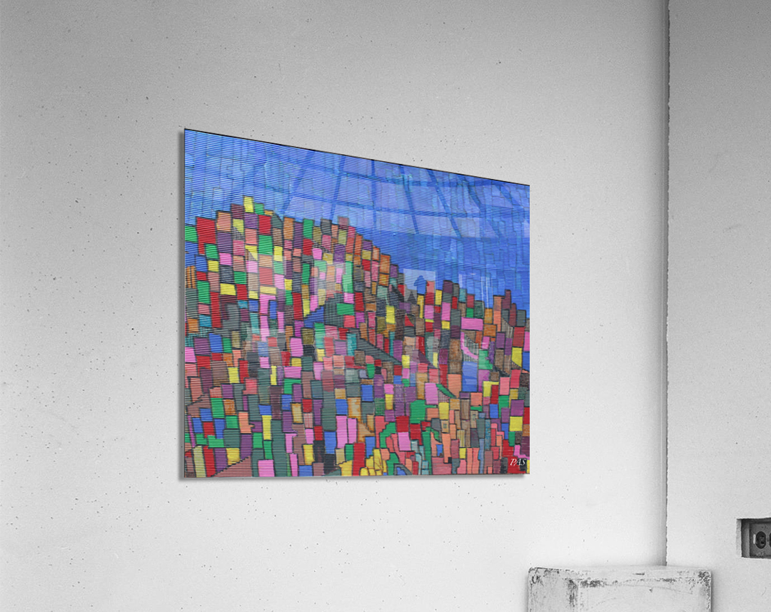 colorfulbuildings  Acrylic Print
