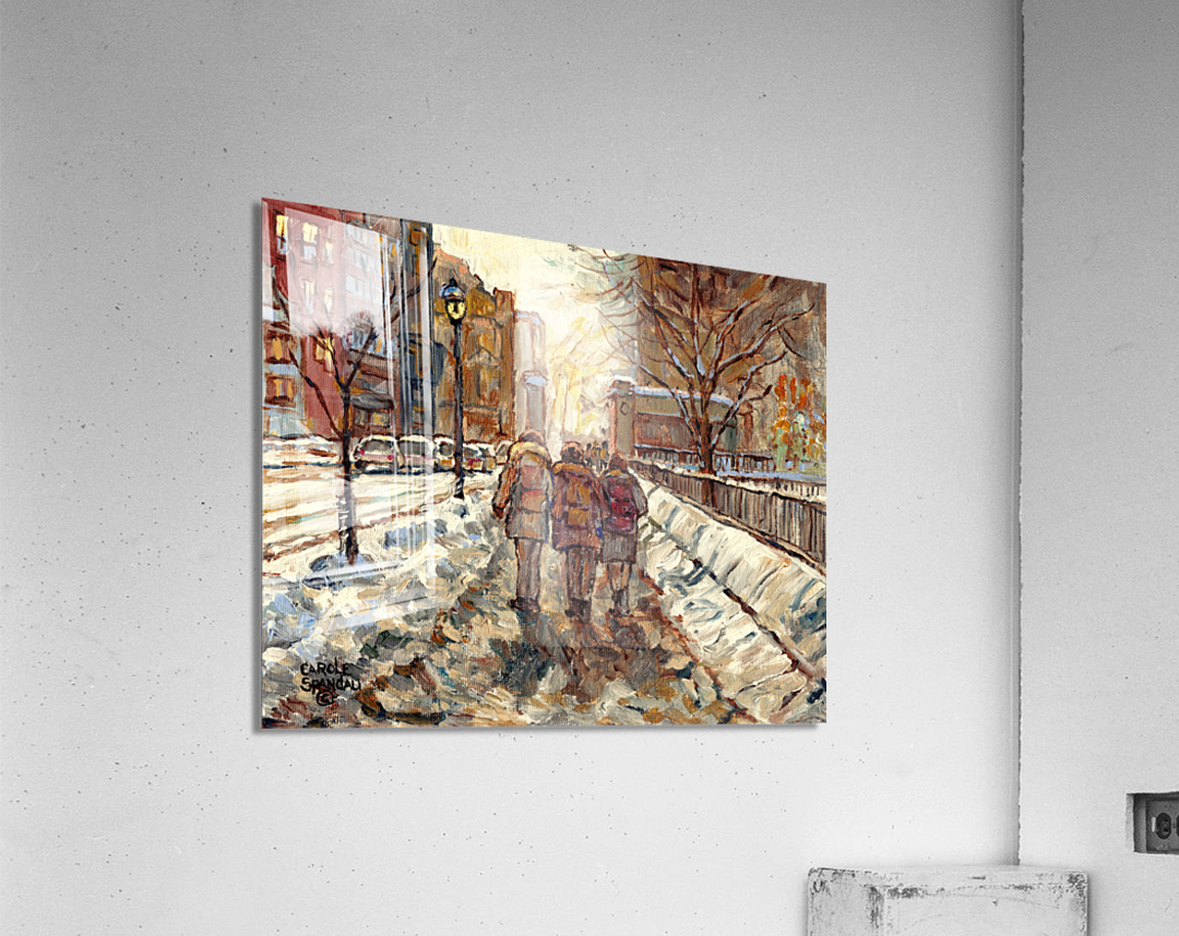 MONTREAL WINTER SCENE MCGILL WINTER WALK NEAR RODDICK GATES  Acrylic Print