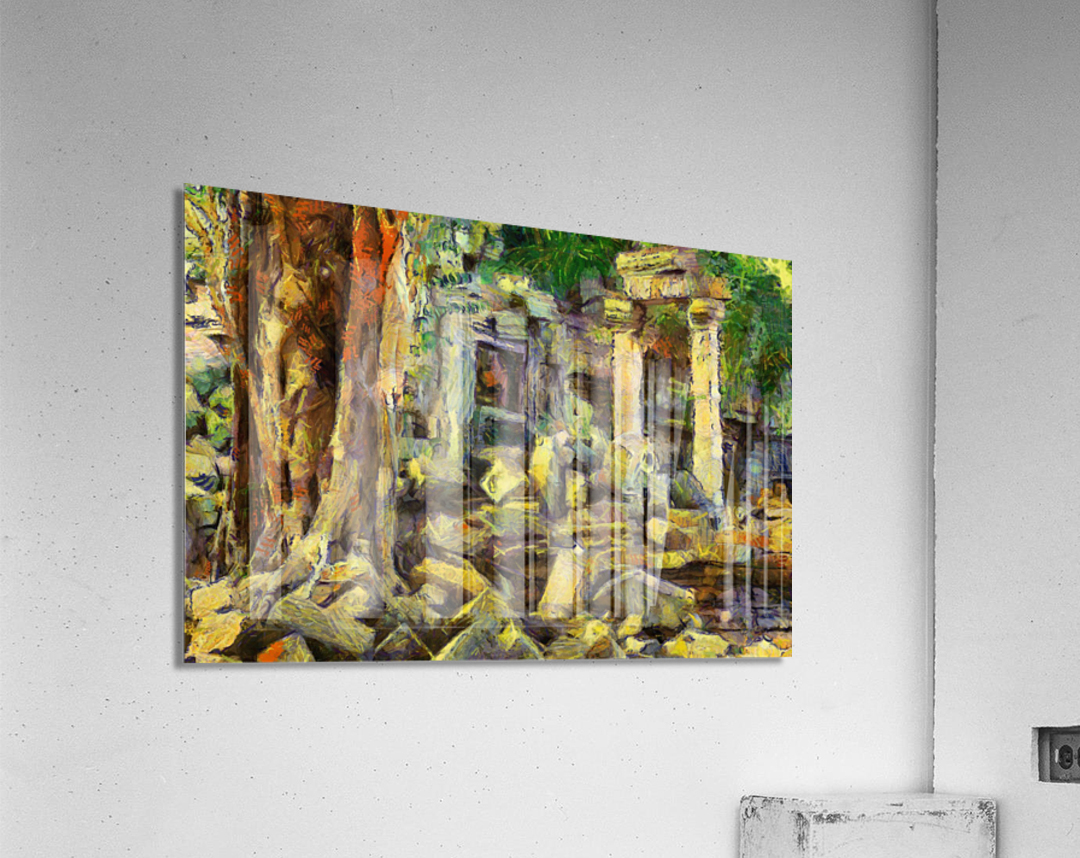 CAMBODIA Angkor Wat oil painting in Vincent van Gogh style. 148  Acrylic Print