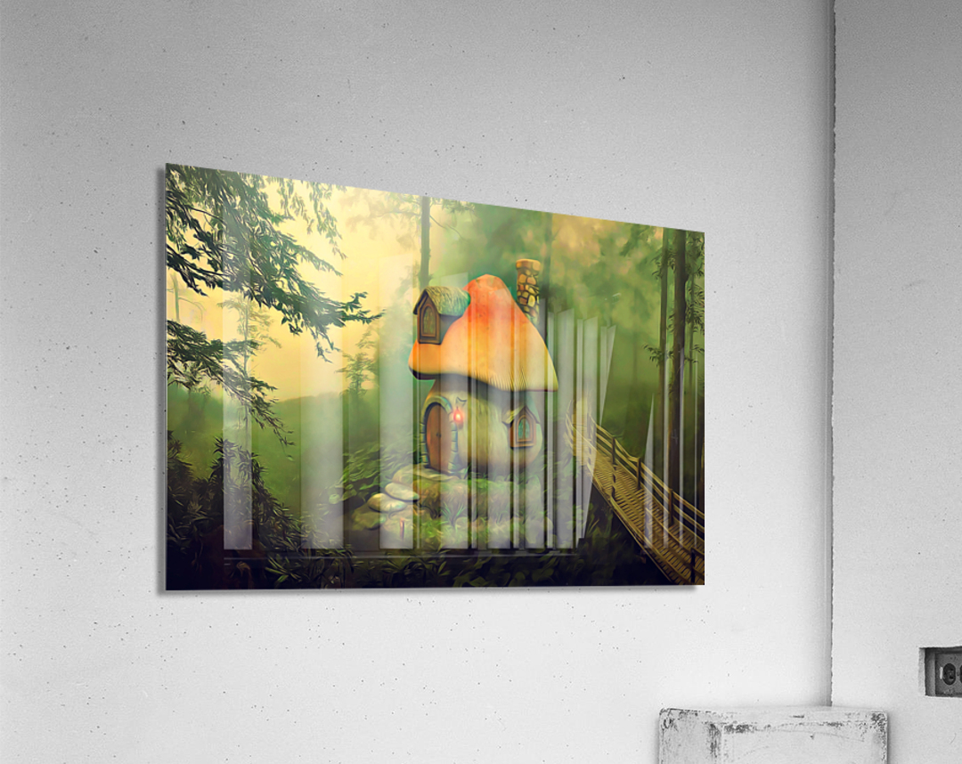 Mushroom Cottage  Acrylic Print