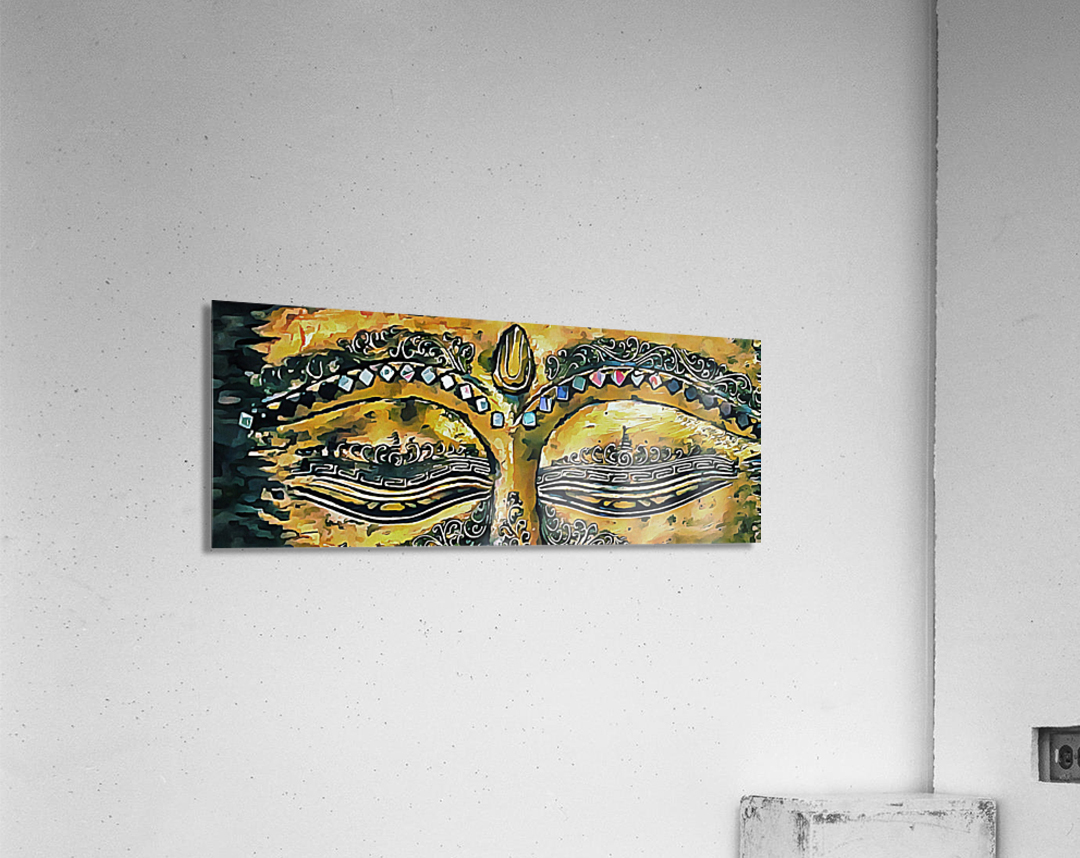 Eyes of Buddha  Acrylic Print