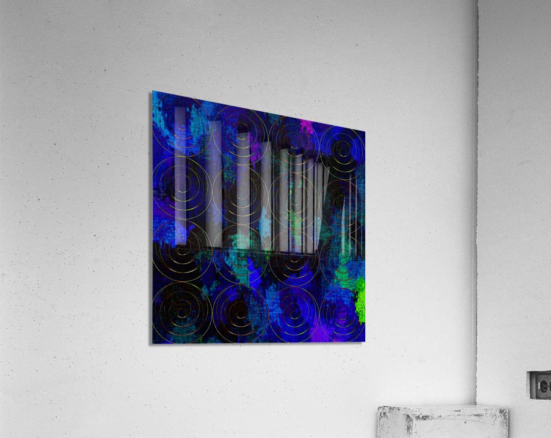 Blue Splash Wings  Acrylic Print