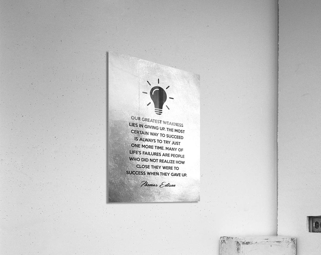 Thomas Edison Motivational Wall Art  Acrylic Print