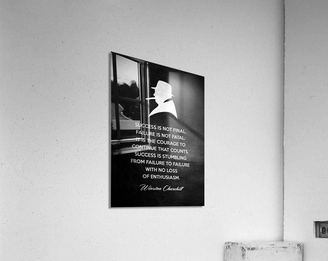 Winston Churchill Motivational Wall Art  Acrylic Print