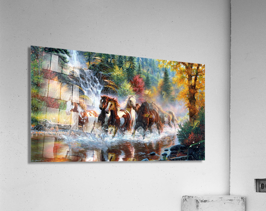Galloping River  Acrylic Print