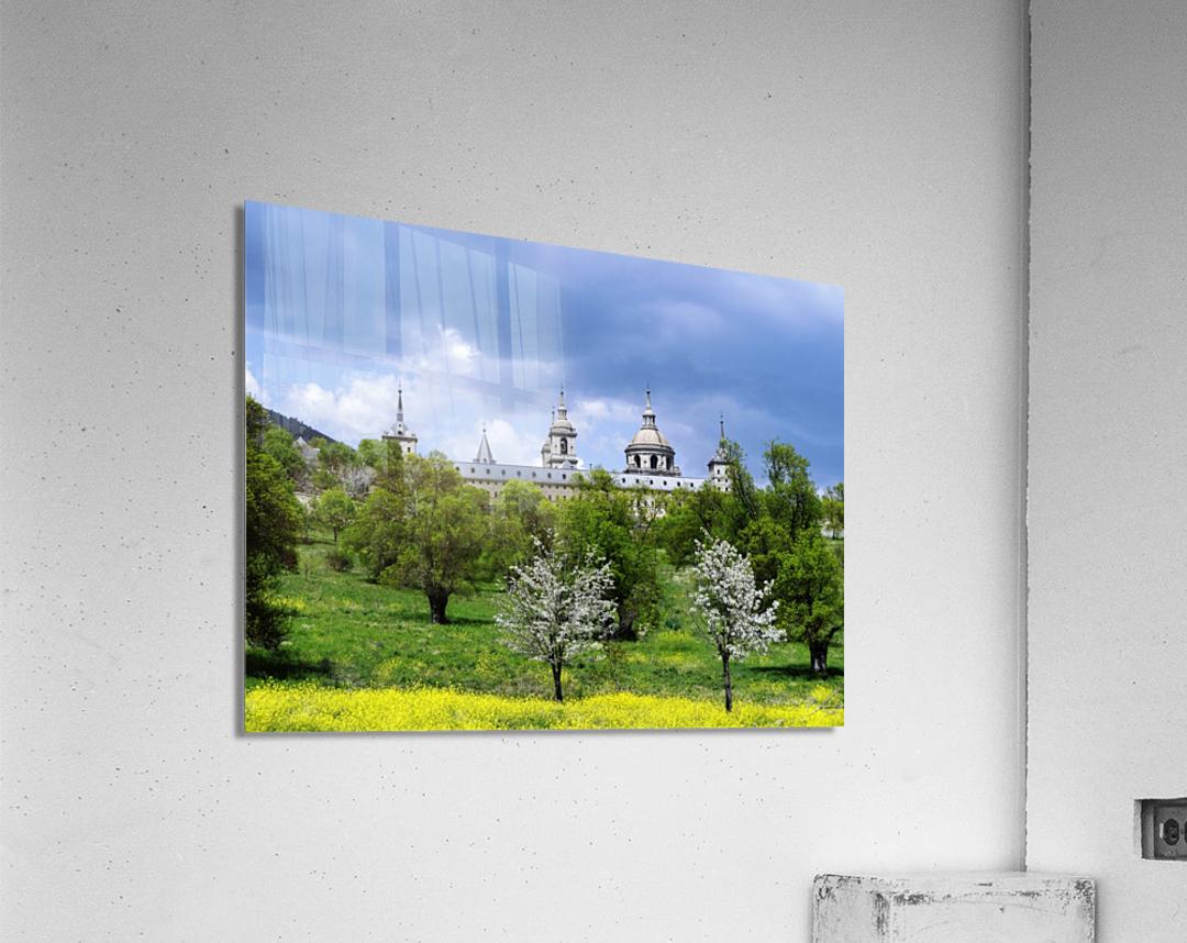 Casita del Principe 5 of 7 - Park and Gardens - The Royal Monastery of San Lorenzo de El Escorial - Madrid Spain  Acrylic Print