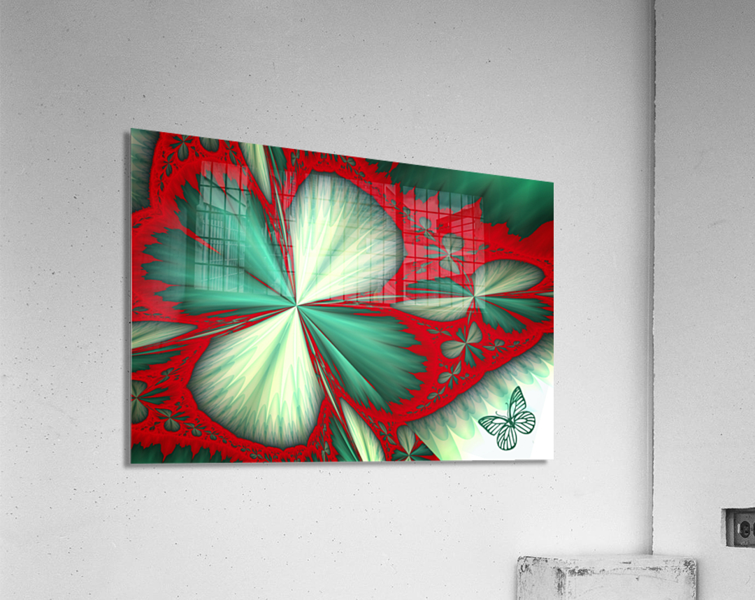 Shamrock and Butterfly  Acrylic Print