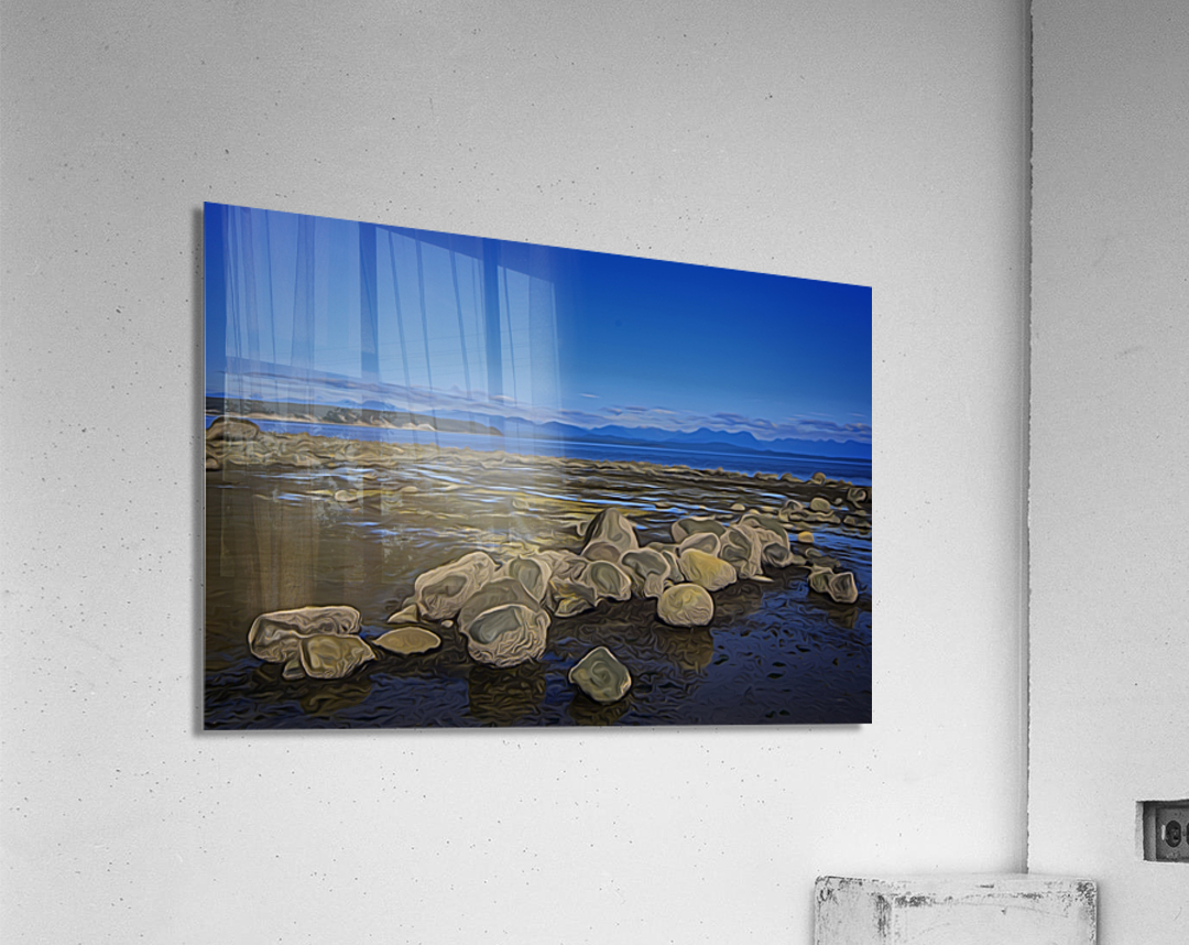 Boulders at Low Tide  Acrylic Print