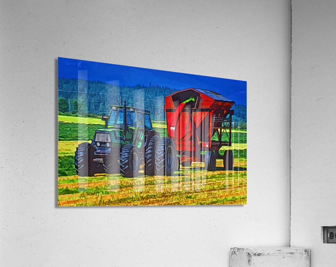Making Hay  Acrylic Print
