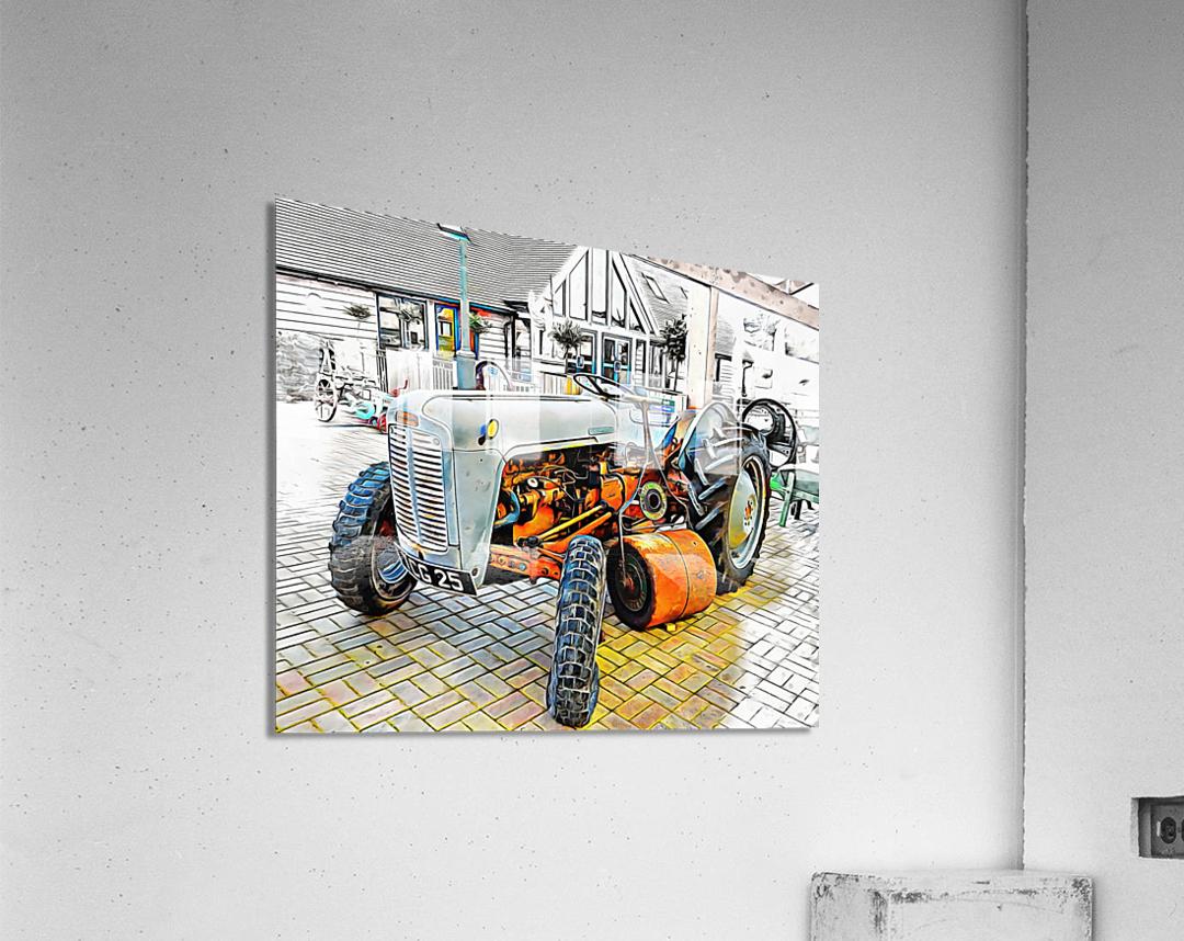 Ferguson Tractor and Hand Roller  Acrylic Print