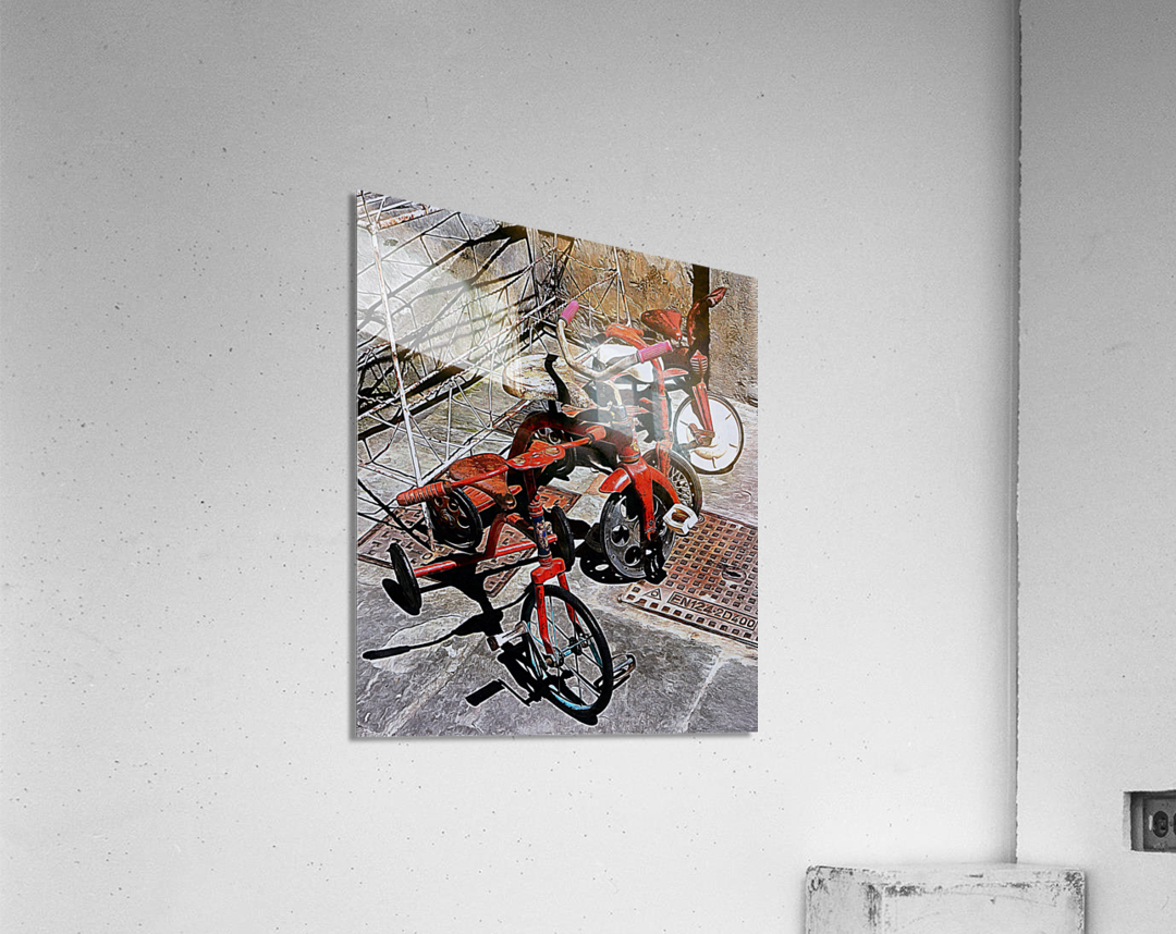 Italian Toy Antique Tricycles  Acrylic Print