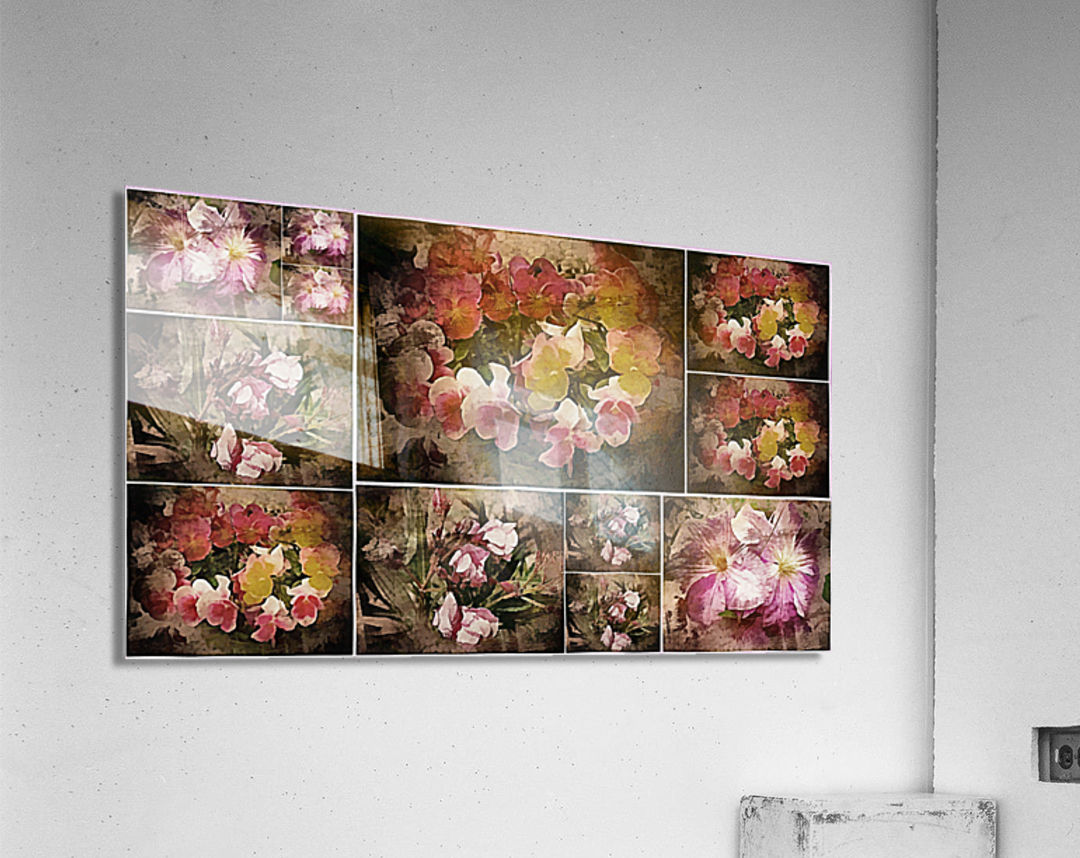 Vintage Floral Imaginings Collage  Acrylic Print