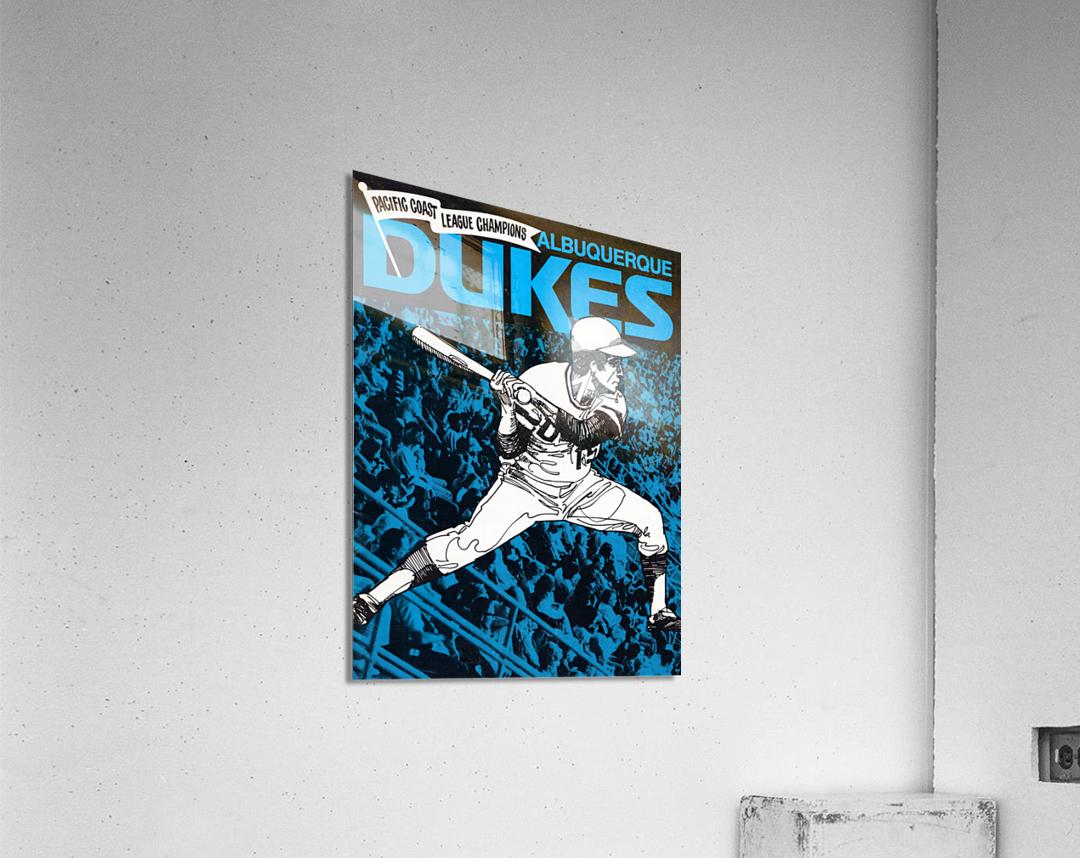 1973 Albuquerque Dukes Baseball  Poster  Acrylic Print