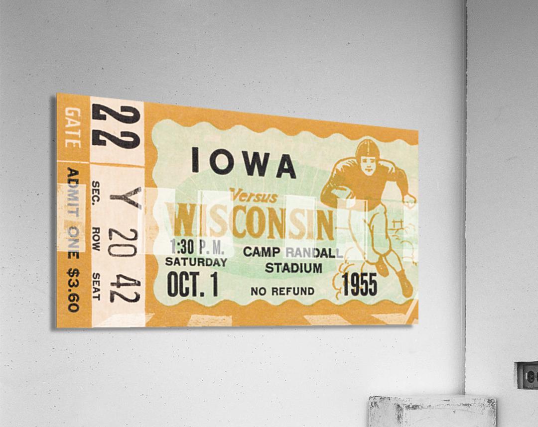 1955 Iowa Hawkeyes vs. Wisconsin Badgers  Acrylic Print