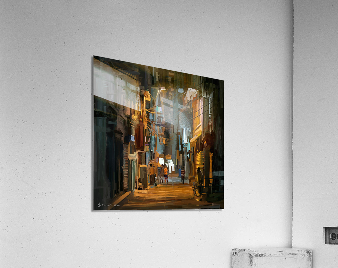 LateNightStreet  Acrylic Print
