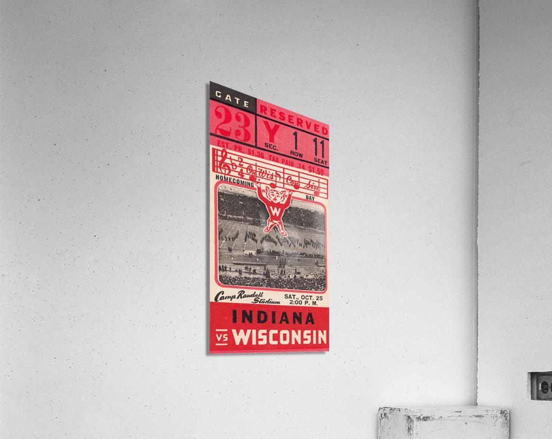 1941 Wisconsin vs. Indiana  Acrylic Print