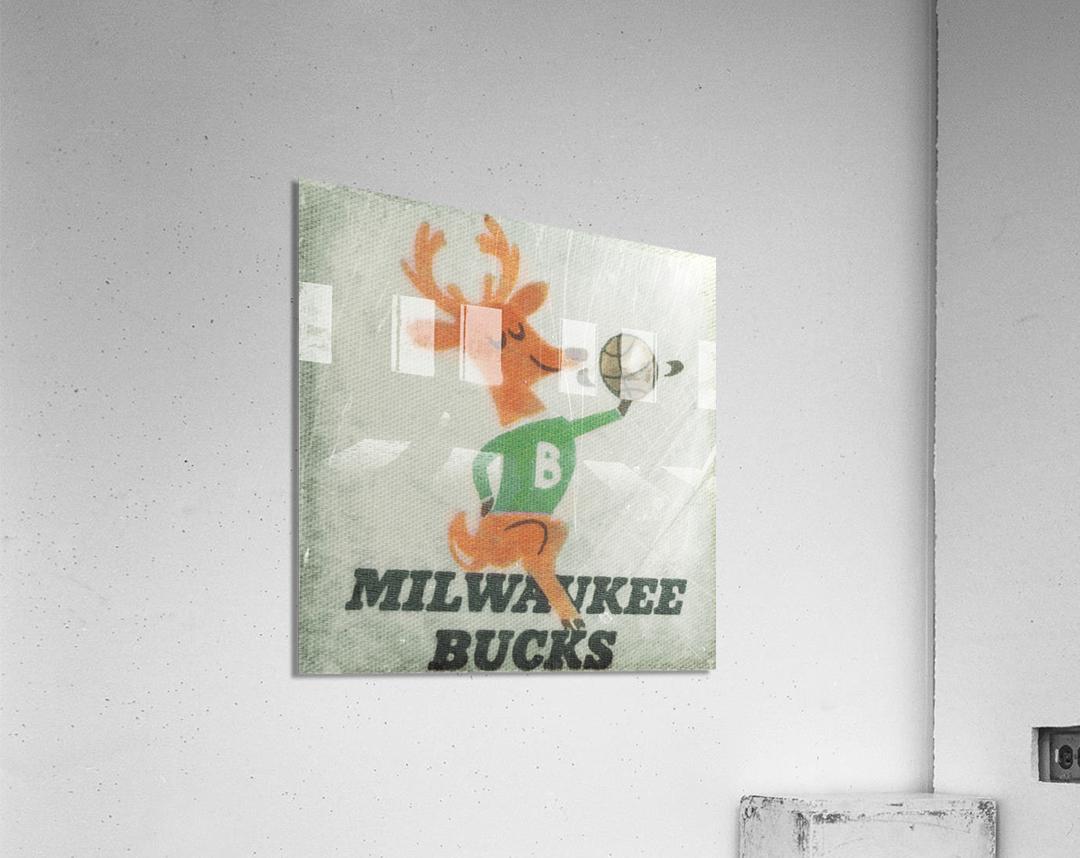 1974 Milwaukee Bucks Fleer Decal Art  Acrylic Print