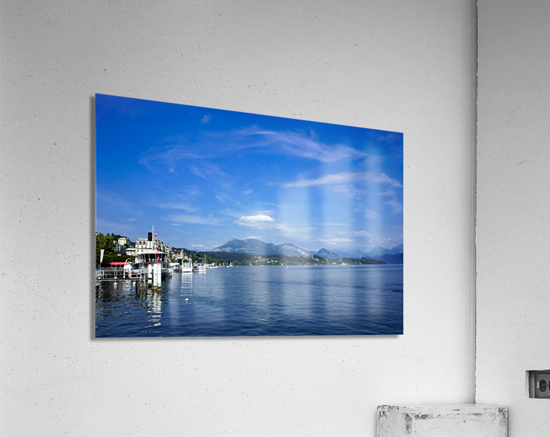On the Shores of Lake Lucerne  Acrylic Print