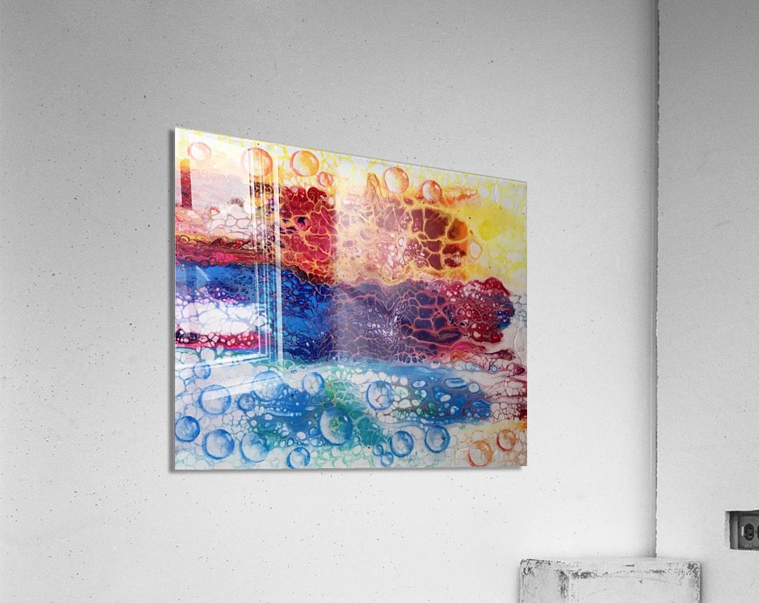 Rainbow Lizard Abstract  Acrylic Print