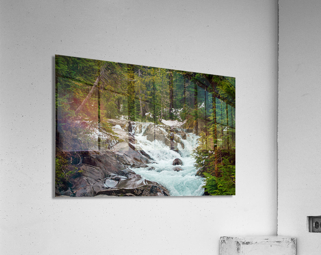 Wild Water in the Mountains  Acrylic Print